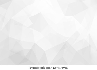 Abstract Gray background low poly textured triangle shapes design.