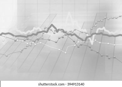 Abstract gray background of stock charts computer diagram