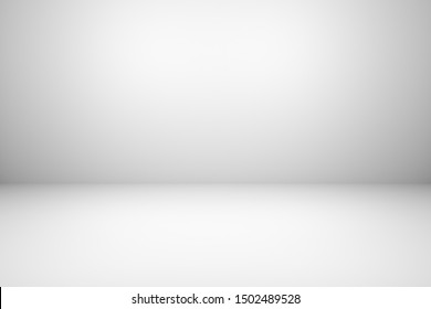 Abstract gray empty room wall studio gradient background with white gradient, simple 3D illustration.