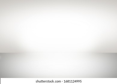 Abstract gray gradient studio background, empty room showcase interior wall and floor with white light bright from spotlight. Blank studio for product display
