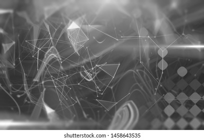 Abstract gray illustration. Artistic background with triangles and mosaic.