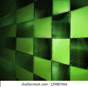 abstract green background black checkered pattern, checkerboard, race car style flag, block wall background effect light, vintage grunge background texture design, website template background, squares