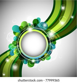 Abstract green background with copy space - raster version