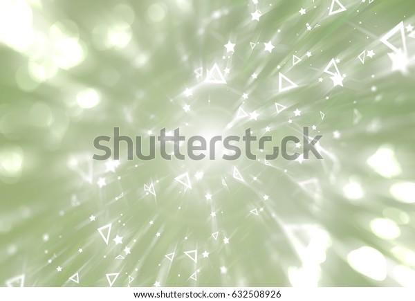 Abstract green background. Explosion star. illustration digital.