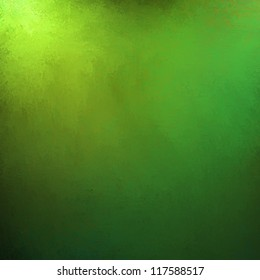 abstract green background gold corner design with smooth gradient and faint vintage grunge background texture, old Christmas background paper, distressed green colors for elegant website background