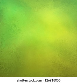 abstract green background, gold yellow vintage grunge background texture design with elegant antique paint on wall illustration for Christmas paper or web background template, light bright green color