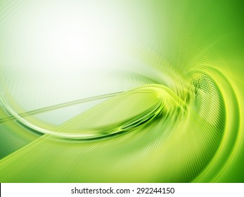 Abstract green background. High detailed wave form.