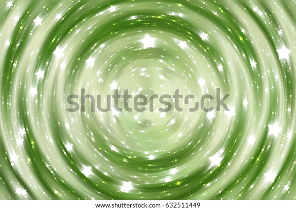 abstract green background with scintillating circles and gloss. illustration beautiful.