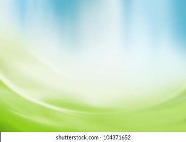 Abstract green and blue background with copy space