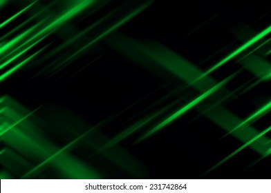Abstract green neon fractal background with various color lines and strips