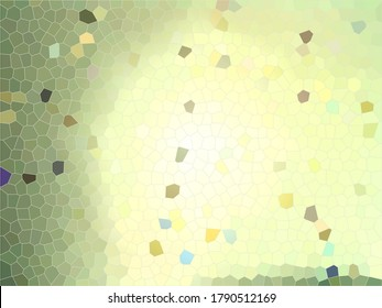 Abstract green stained glass background with a bright light source