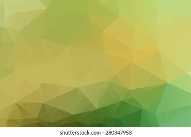 Abstract green tone polygonal background