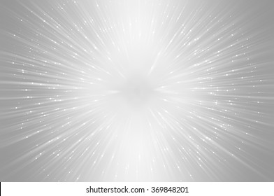 Abstract grey fractal composition. Magic explosion star with particles