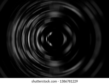 Abstract grey image of speed motion circles. Beautiful illustration.