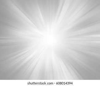 Abstract grey radiant light effect background.
