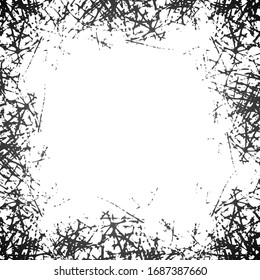 Abstract grunge background. Black scratches on white. Monochrome Texture and elements for design. Jpeg illustration
