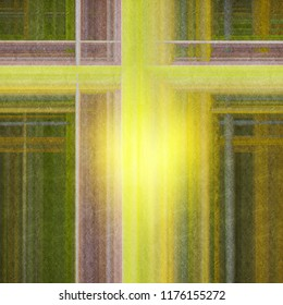 Abstract grunge background with bright yellow glare