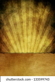 Abstract grunge background of the sun's rays