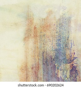 Abstract grunge brush stroke wall background, canvas texture