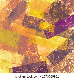 Abstract grunge collage with brush strokes, geometric elements. Grungy colorful background. Perfect for printable, scrapbooking & textures. Rustic old backdrop.