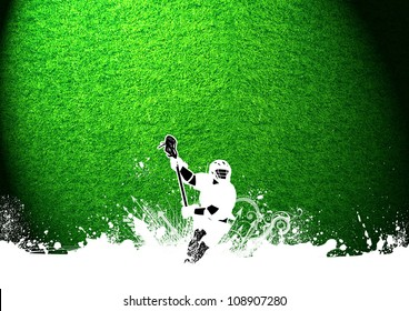 Abstract grunge color lacrosse background with space