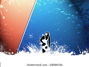 Abstract grunge color wrestling background with space