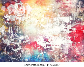 Abstract grunge colorful background