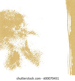 Abstract grunge painted gold texture. Scratch urban background. Splatter paint texture. Distress grunge background. Scratch, grain, noise stamp.