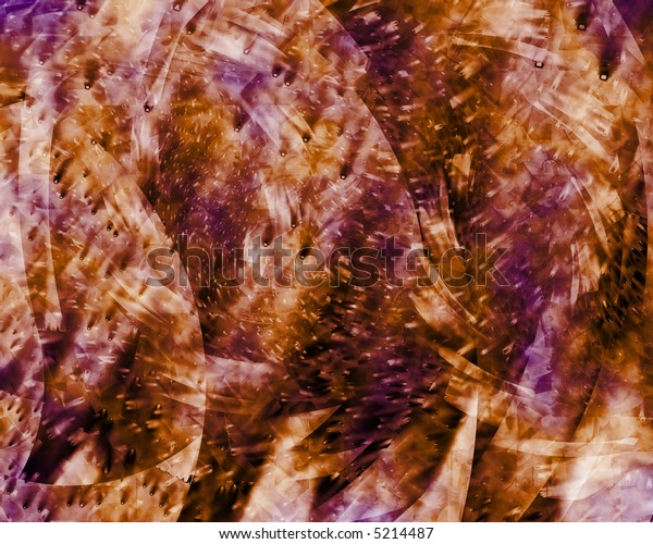 Abstract grungy background texture in orange and lavender.