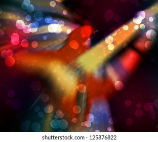 Abstract Guitar Red Background