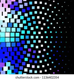 Abstract halftone background pattern. Square colorful line illustration