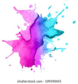 abstract hand drawn watercolor blot background