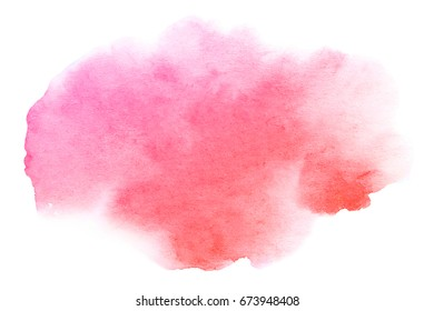 Abstract hand drawn watercolor brush stroke isolated on white background.