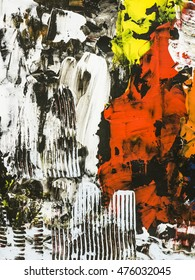 Abstract  hand painted background, close-up fragment of acrylic painting on canvas. Modern art. Contemporary art.
