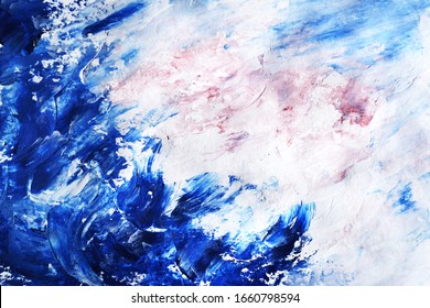 Abstract hand painted background, sea, water, nature