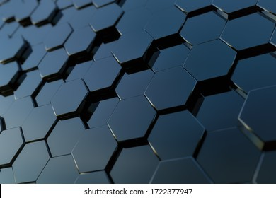 Abstract hexagon background as jpg images created in 3D for use as backgrounds in websites, video, illustrations, and more. High-resolution 6000x400 px at 300dpi