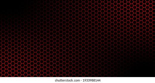 abstract hexagon dark red background