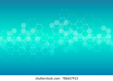 Abstract hexagonal background. Medical, scientific or technological concept. Geometric polygonal graphics. Illustration