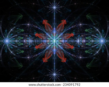 Abstract High Resolution Wallpaper With A Detailed Modern Exotic Looking Shining Blazing Star Pattern In Blue