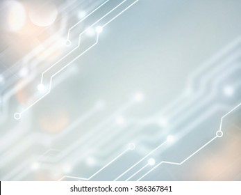 Abstract high tech background in white and gray tones