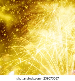Abstract holiday background with fireworks and stars  - Shutterstock ID 239073067