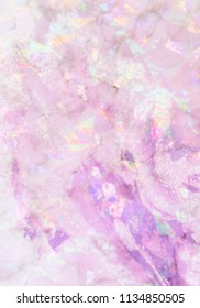 Abstract holographic background, glossy and bright texture in delicate pastel rainbow shades. Cute and feminine, perfect for phone covers or wallpapers.
