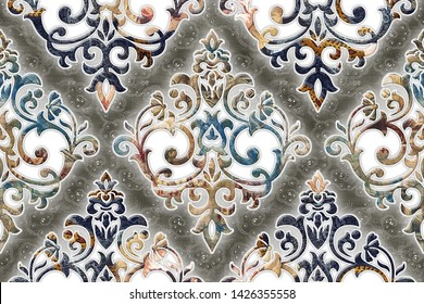 abstract home decorative art oil paint wall tiles pattern design background