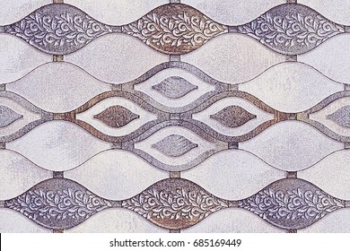 abstract home decorative oil paint wall tiles pattern design background,
