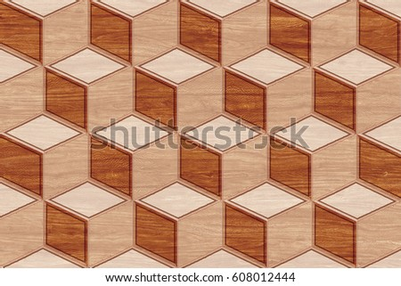 Abstract Home Decorative Wooden Wall Tiles Stock Illustration Beauteous Decorative Wood Wall Tiles