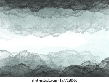 Abstract horizontal pattern with grey stains on white background