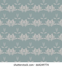 Abstract Horizontal Stripe Repeat Pattern in Green and Light Brown
