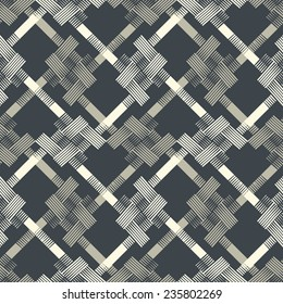 Abstract houndstooth check motif grid textured background. Seamless pattern.