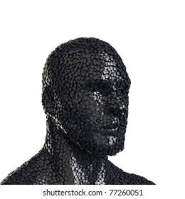 abstract human head