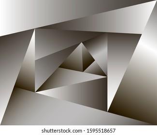 abstract hypercube illustration, wallpaper, background